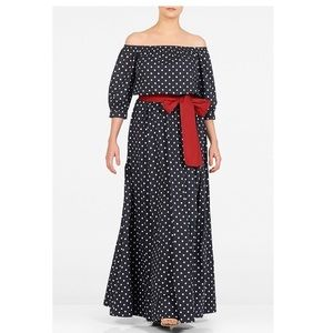 Curvy Polka Dot Maxi Dress Custom size 34